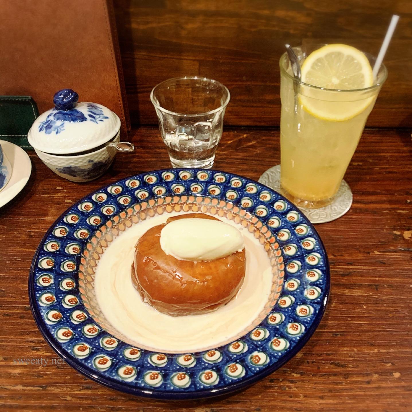 外苑前カフェ香咲で季節限定のとろとろ焼きリンゴがおいしい♡